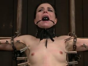 Femdom lesbian tortures her slave