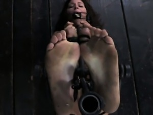 BDSM submissve has her feet punished