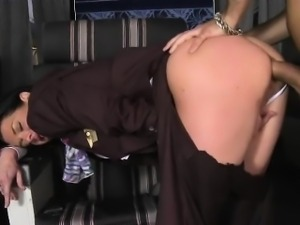 Their mouths are full of cum after both studs unload