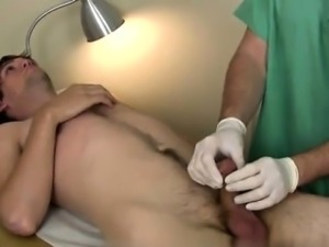 Gay clip of After working his hard member the doc was prepar