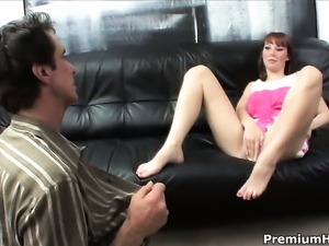 Angel faced goddess Delila Darling is on the edge of nirvana with hard...