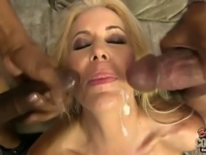 Hot milf Shane Diesel enjoys two big black cocks