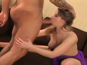 Sunny Lane deepthroating and fucked missionary