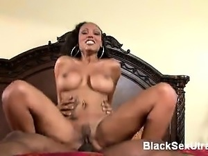 Horny black cutie Lacey Duvalle tests her sexual stamina as