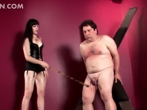 Mistress on heels spanking and cock torturing tied up g