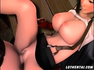 3D Girl pissing and having sex