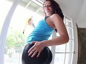 Watch this cool and so seductive girl Sheena Ryder stripping on camera. She...