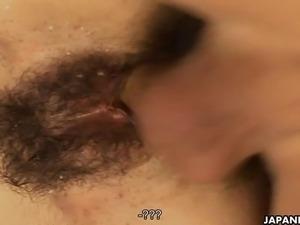 Provocative Japanese cutie enjoys hardcore sex