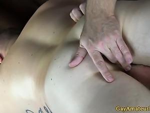 Gaystraight jock has asshole fingered