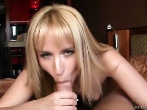Aleska Diamond is one hot dick sucker that loves David Perrys love stick so much