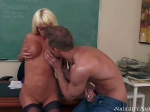 His teacher Nikita Von James is a fuck hungry perfect bodied milf with huge...