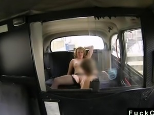 Blonde BBW anal banged in fake taxi