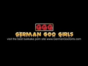 Two young girls team up to drain all the guy's semen