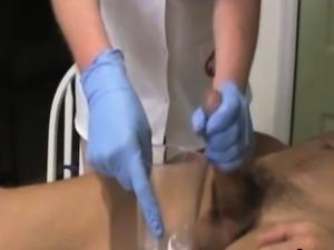 Busty mature nurse handjob