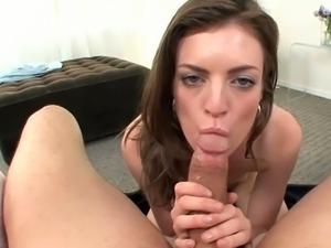 Lovely Anna Skye gives a great pov blowjob