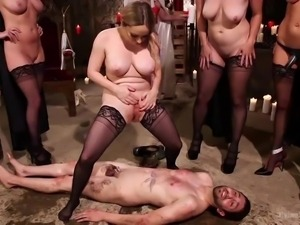 man humiliated and fucked by perverted witches