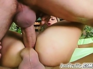 Incredible double pussy and double anal penetration in this