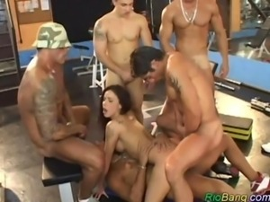 Brazilian Girl is fucked by hunks