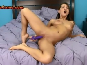 Hot Brunette Teen Spreads Her Pussy Lips And Teases Her Clit