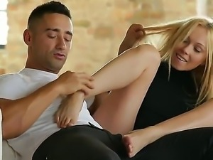 Lina Napoli has magical feet and she prefers to please her boyfriend with...