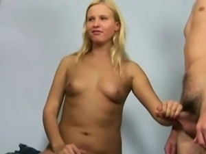 Sexy young blonde at the doctor