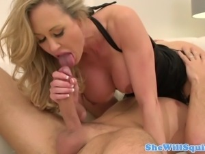 Squirting Brandi Love queens dude then rides his cock