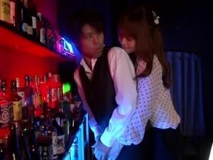 dizzy girl seduces the bartender
