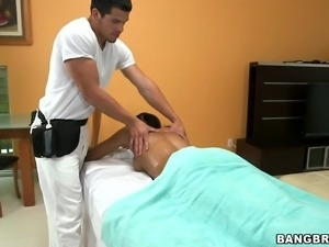 hot oil massage makes this bitch horny