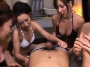 Japanese Bikini Girls Reverse Gangbang
