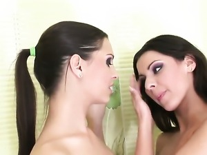 Eve Angel playing with herself on camera