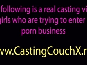 Shy teen tricked on the castingcouch by perverted casting agent