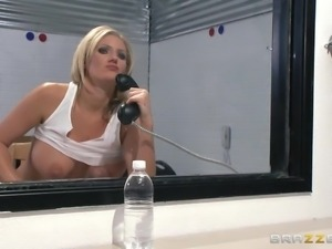 blonde milf sucking her boss' s dick
