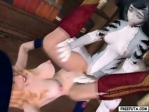 Hentai 3d elf dickgirl gets handjob and fucking