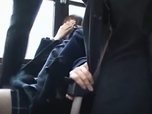 Shocked Teengirl groped in Bus