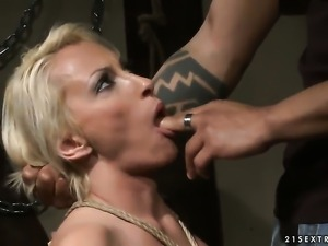 Blonde is curious about fucking