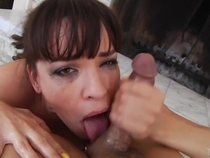 dana sucks cock and gargles cum