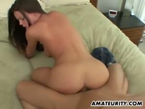 Amateur girlfriend drilled hard