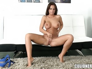 Black Angelika with big booty gives giving oral pleasure to horny dude