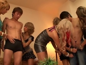 tanned japanese sluts play with virgin boys
