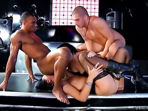 Timo Hardy has a good time fucking Oriental Mya Dark in the booty