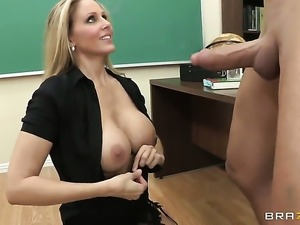 Billy Glide attacks amazingly hot Julia AnnS hole with his love torpedo