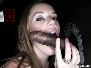Lizzie Tucker with round booty is in heat in cumshot sex action