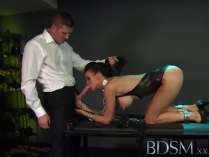 Teen subs with attitude recieve extreme treatment from Masters