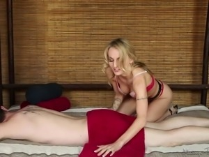 hot blonde and the perfect massage