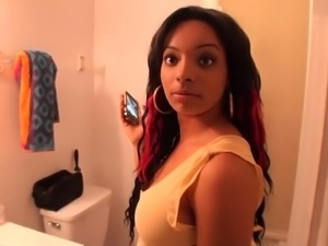 Convincing her to do a quickie in the bathroom