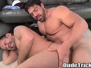 Straight stud with a big cock fucks shaved ass