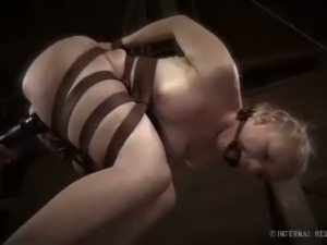 Sexy blonde tracy sweet gets tied up and abused