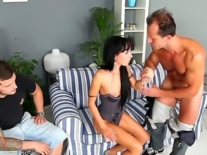 Have a glance at delicious and provocative brunette slut Gina Devine getting...