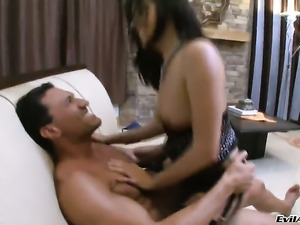 Danica Dillan gets used an anal fuck toy by hot dude Marco Banderas before...