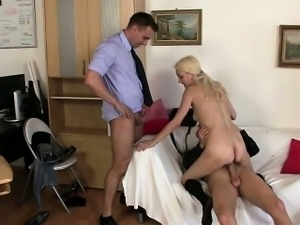She swallows two dicks for future work
